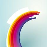 rayures coudées colorées Image stock