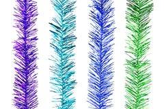 Rayures d'arc-en-ciel de scintillement pour la décoration de Noël Photos stock