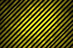 Rayures d'avertissement noires et jaunes Image libre de droits