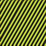 Rayures d'avertissement noires et jaunes métallisées Photographie stock libre de droits