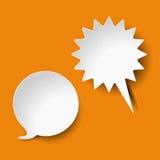 Rayures d'orange de bulles de la parole et de cri illustration libre de droits