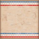 Rayures de double étoile des Etats-Unis de fond de vintage Image stock
