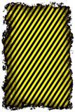 Rayures de fond, jaunes et noires grunges Photos libres de droits