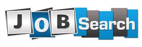 Rayures de Job Search Blue Grey Squares Photographie stock libre de droits