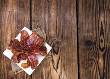 Rayures de lard (frites) photo stock