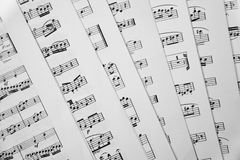 Rayures de musique image stock