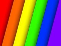 Rayures de papier de l'arc-en-ciel 3D Photos libres de droits