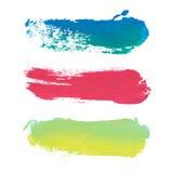 Rayures de peinture de vecteur avec l'endroit pour le texte illustration stock