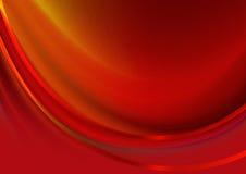 Rayures de rouge de vague couvertes par fond rouge Image stock
