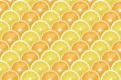 rayures diagonales Citron-oranges image stock