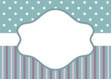 Rayures et point de polka sur le bleu illustration stock