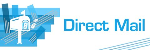 Rayures frottées par bleu de courrier direct Image stock