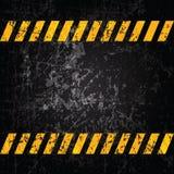 Rayures grunges de fond de vecteur avec prudence Image libre de droits