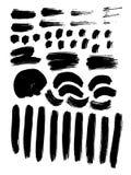 Rayures grunges peintes réglées Éléments faits main de conception illustration libre de droits