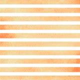 Rayures horizontales oranges d'aquarelle Illustration de vecteur Image stock