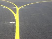 Rayures jaunes Images stock