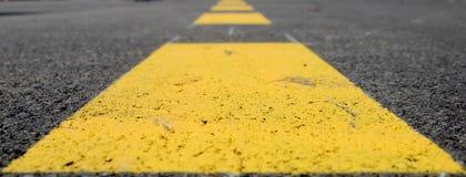 Rayures jaunes Photographie stock libre de droits