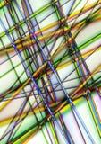 Rayures lumineuses de intersection d'arc-en-ciel sur un fond blanc Photos libres de droits