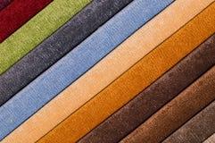 Rayures multicolores de fond diagonal abstrait de textile des textiles de tapisserie d'ameublement d'usine pour des meubles photos stock