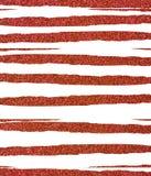 Rayures scintillantes en lambeaux et inégales rouges Images stock