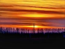 Rayures sur le ciel Photographie stock