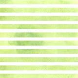 Rayures vertes d'aquarelle Illustration de vecteur Photographie stock