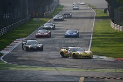 Raza abierta 2014 de GT en Monza Fotos de archivo libres de regalías