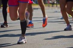Raza corriente del maratón Imagenes de archivo