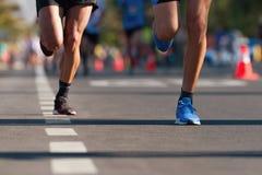 Raza corriente del marat?n imagen de archivo