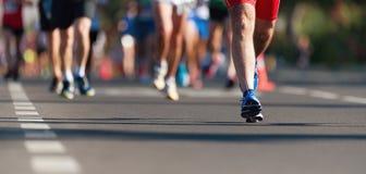 Raza corriente del marat?n fotos de archivo libres de regalías