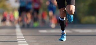 Raza corriente del marat?n foto de archivo