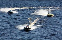 Raza de barco de la velocidad. Fotografía de archivo
