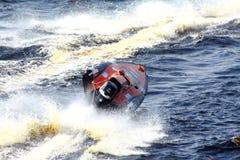 Raza de barco de la velocidad. Imagen de archivo