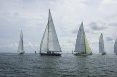 Raza de barco de madera clásica foto de archivo libre de regalías