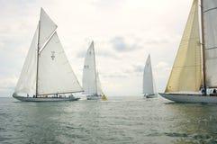 Raza de barco de madera clásica Imagen de archivo