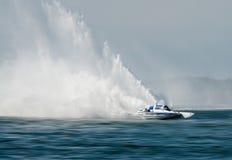 Raza de barco del hidrodeslizador Fotografía de archivo