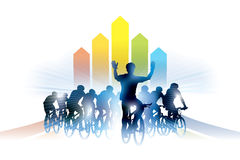 Raza de bicicleta stock de ilustración