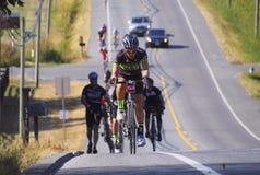 Raza 2015 de ciclo de Gran Fondo del valle de Prospera Fotos de archivo