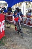 Raza de Cyclocross Imagenes de archivo