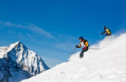 Raza de esquí fotos de archivo