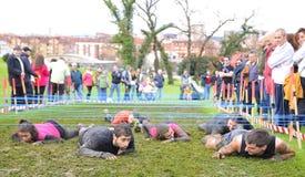 Raza de Farinato - raza de obstáculo extrema en Gijón, España Fotos de archivo libres de regalías