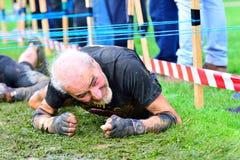Raza de Farinato - raza de obstáculo extrema en Gijón, España Fotos de archivo