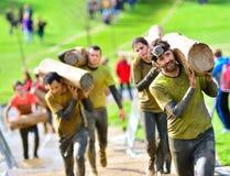 Raza de Farinato - raza de obstáculo extrema en Gijón, España Fotografía de archivo
