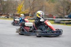 Raza de Karting imagen de archivo libre de regalías