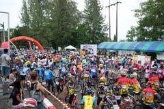 Raza de la bici Fotos de archivo
