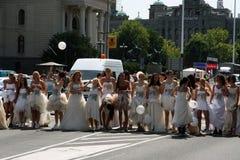 Raza de la boda Foto de archivo libre de regalías