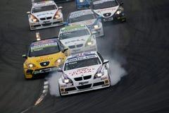 Raza de la FIA WTCC Imágenes de archivo libres de regalías