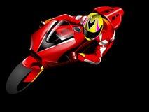 Raza de la motocicleta Foto de archivo
