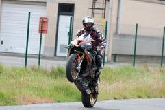 Raza de la motocicleta de IRRC en Ostende Bélgica Imagen de archivo