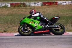 Raza de la motocicleta de Megara Fotografía de archivo libre de regalías
